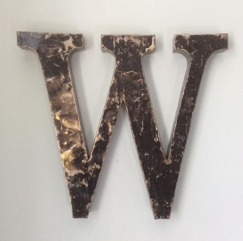 Collection of Vintage Metal Letters