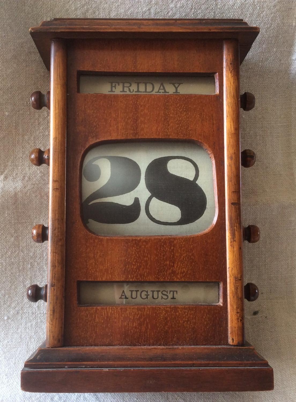 Edwardian Oak Perpetual Calendar