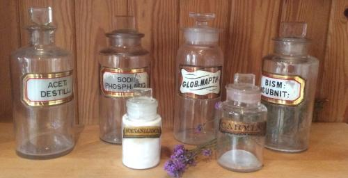 Collection of Apothecary Bottles