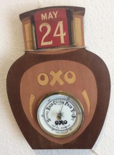 OXO Jar Advertising Perpetual Calendar and Ba