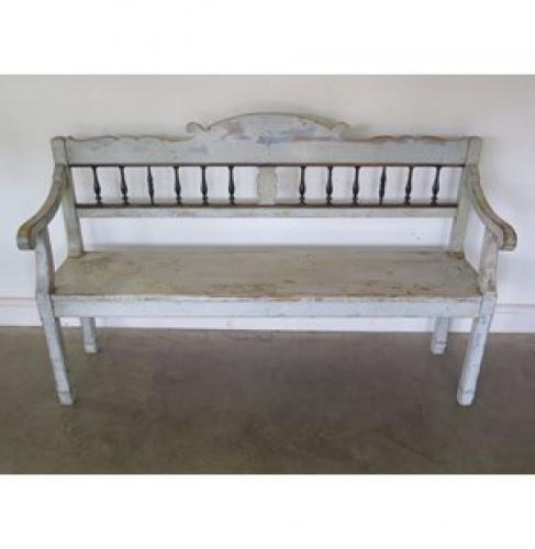 19th Century Painted Bench