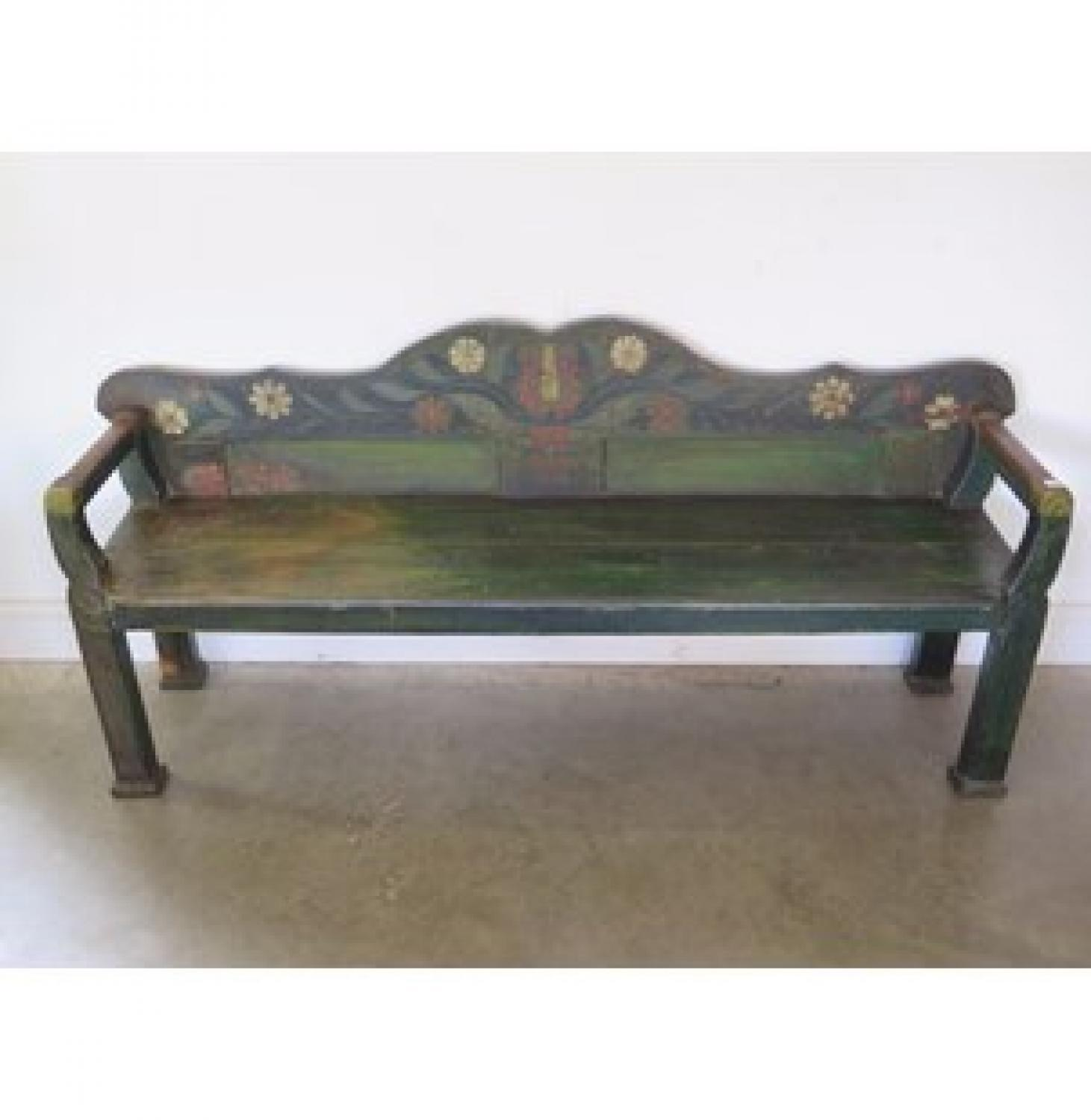 Early 19th Century European Folk Art Bench