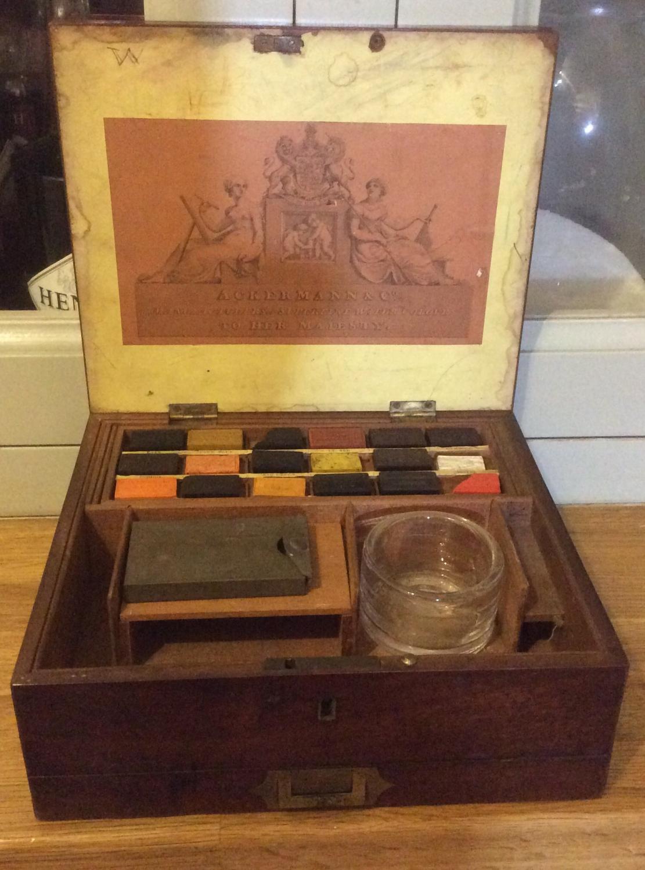 Mahogany Ackermann Painting Box