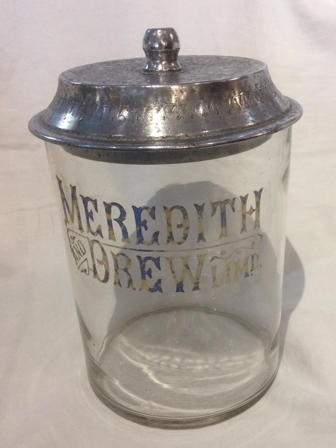Meredith and Drew Ltd advertising biscuit jar