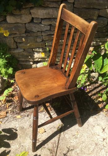 British Railways Pine and Elm Chair