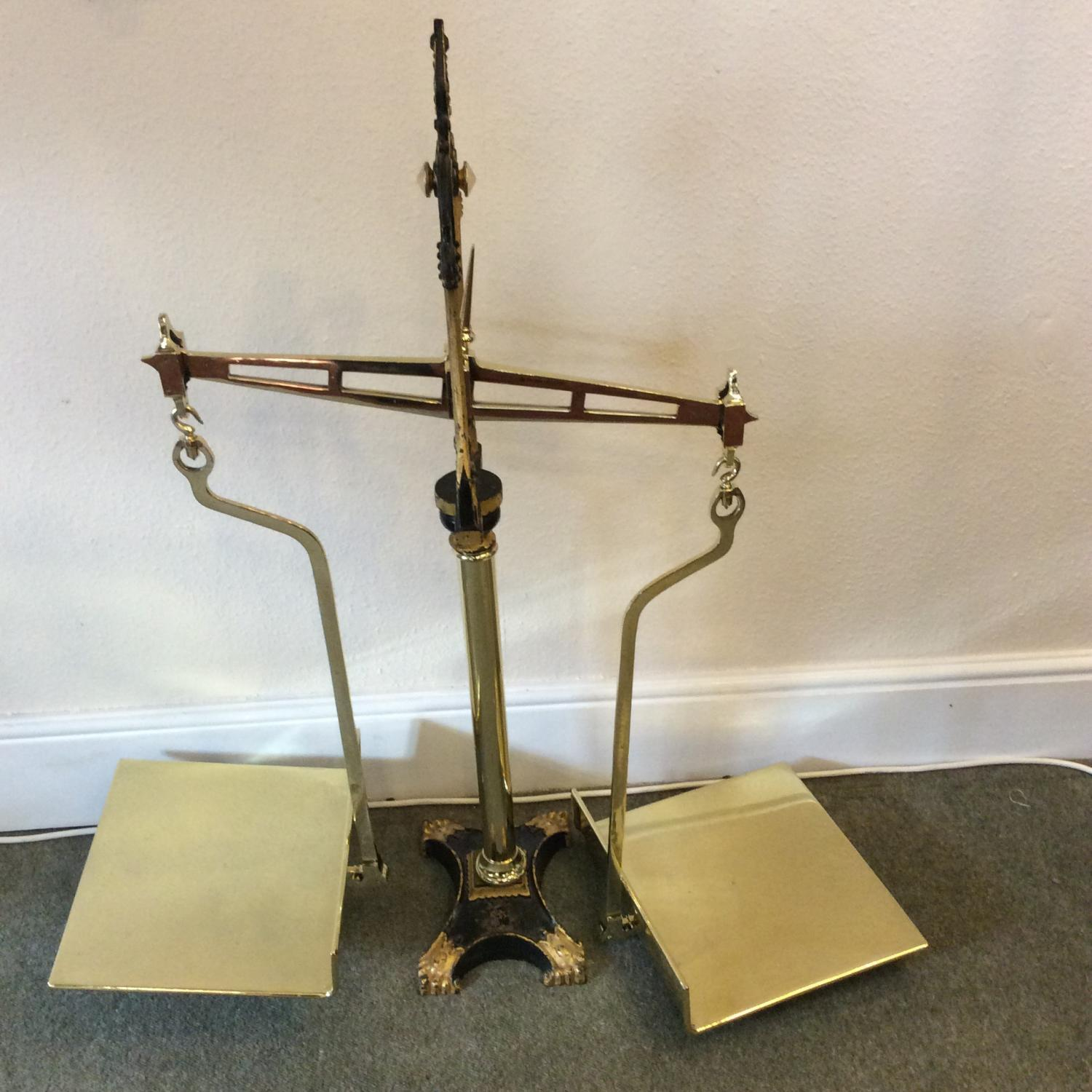Large Victorian Groucers Weighing Scales