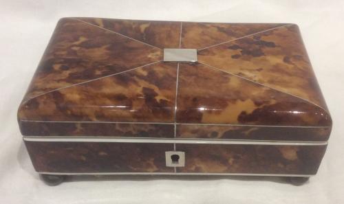 Small Tortoiseshell sewing box