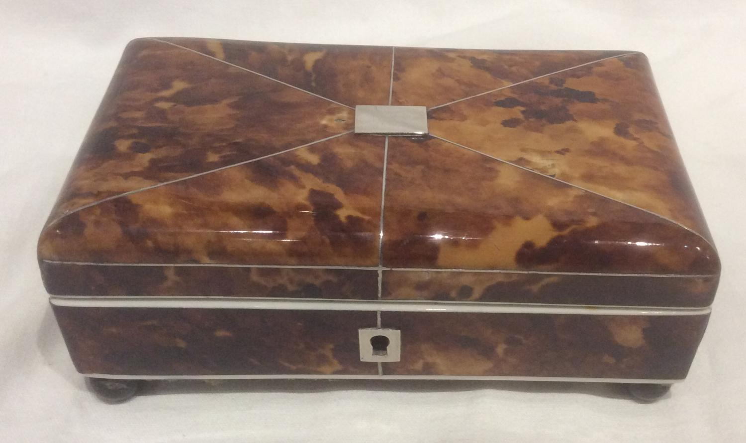 Small Tortoiseshell sewing box