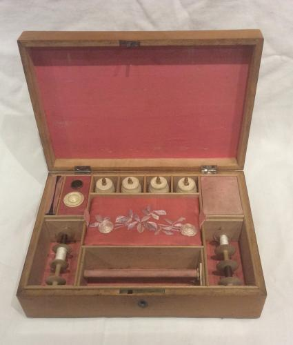 Rare late 18th century inlaid sewing box