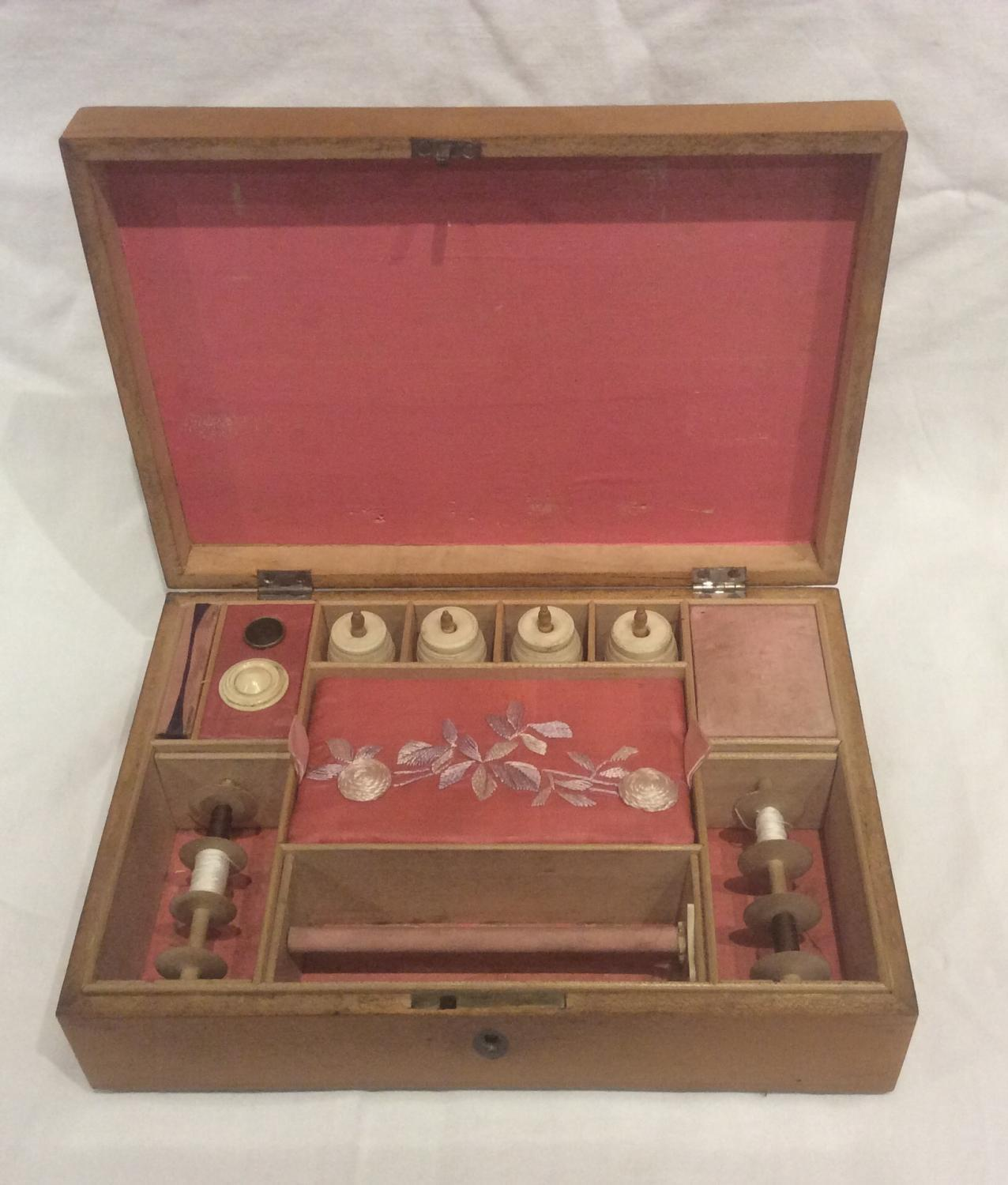 Rare late 18th century inlaid sewing box