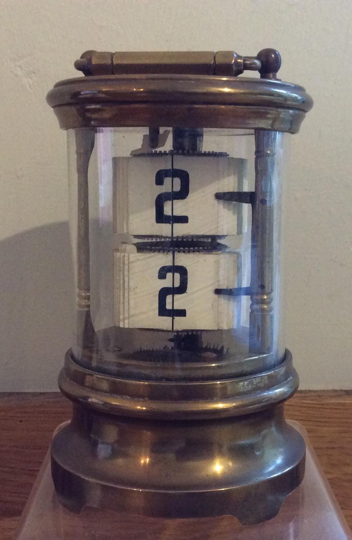 Antique Brass flip ticket clock