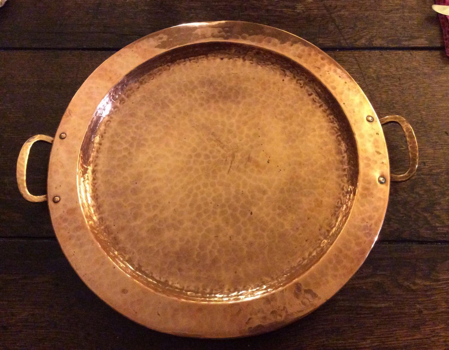 Gustav Stickley Hammered Tray