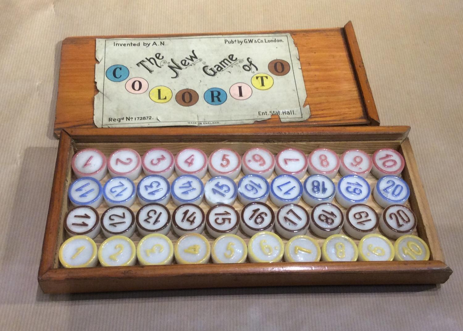 19th century game 'Colourito'