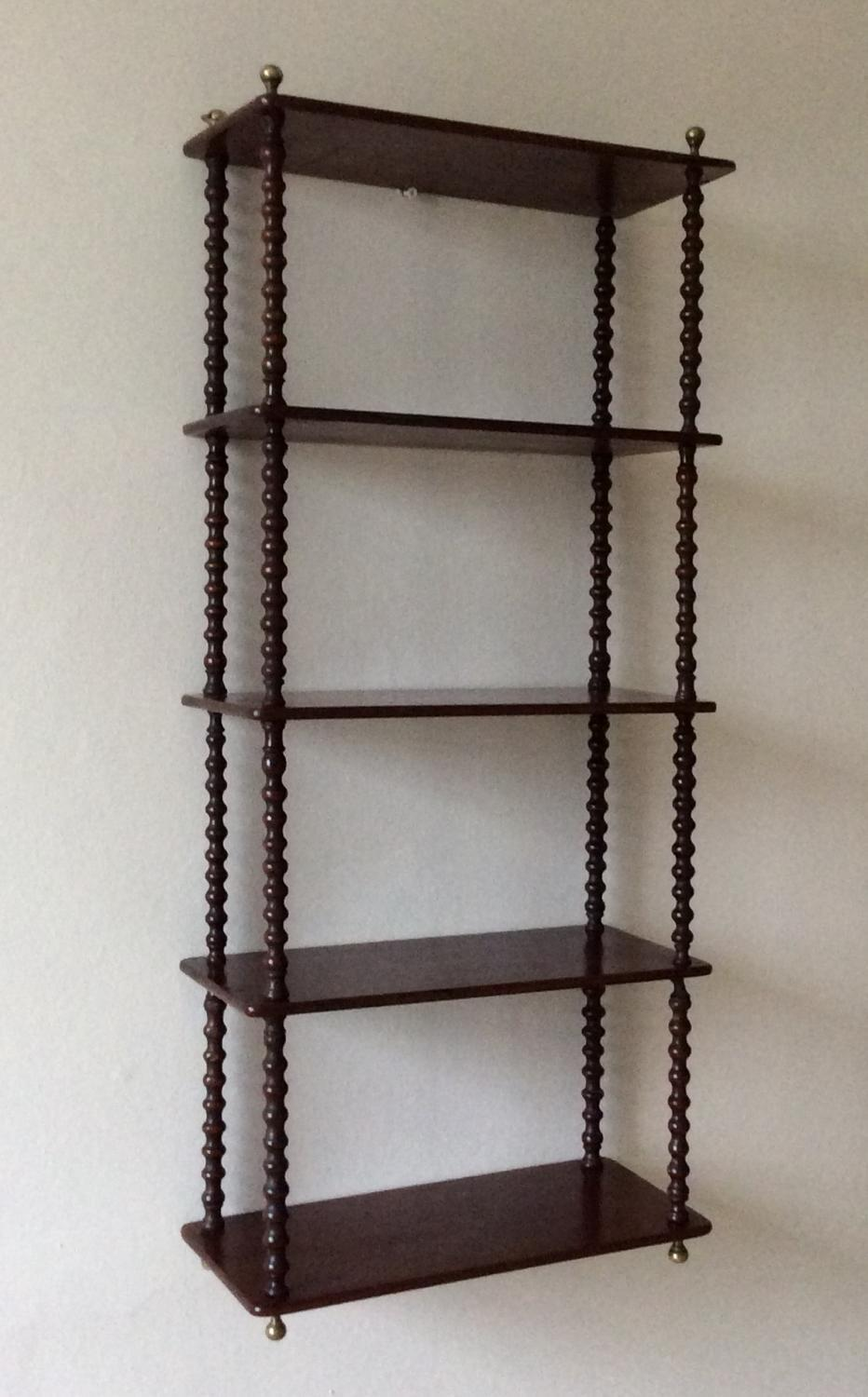 Mid 19th century Mahogany wall shelves