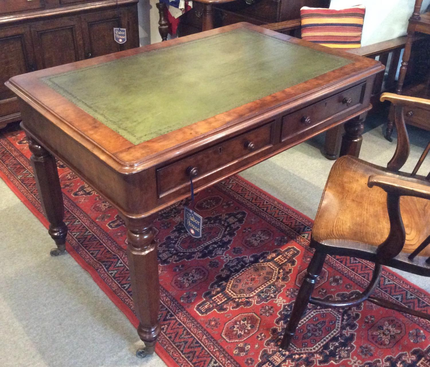Mahogany Library Writing Table