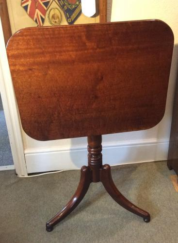 Regency Plumb Pudding Mahogany Tiptop Table