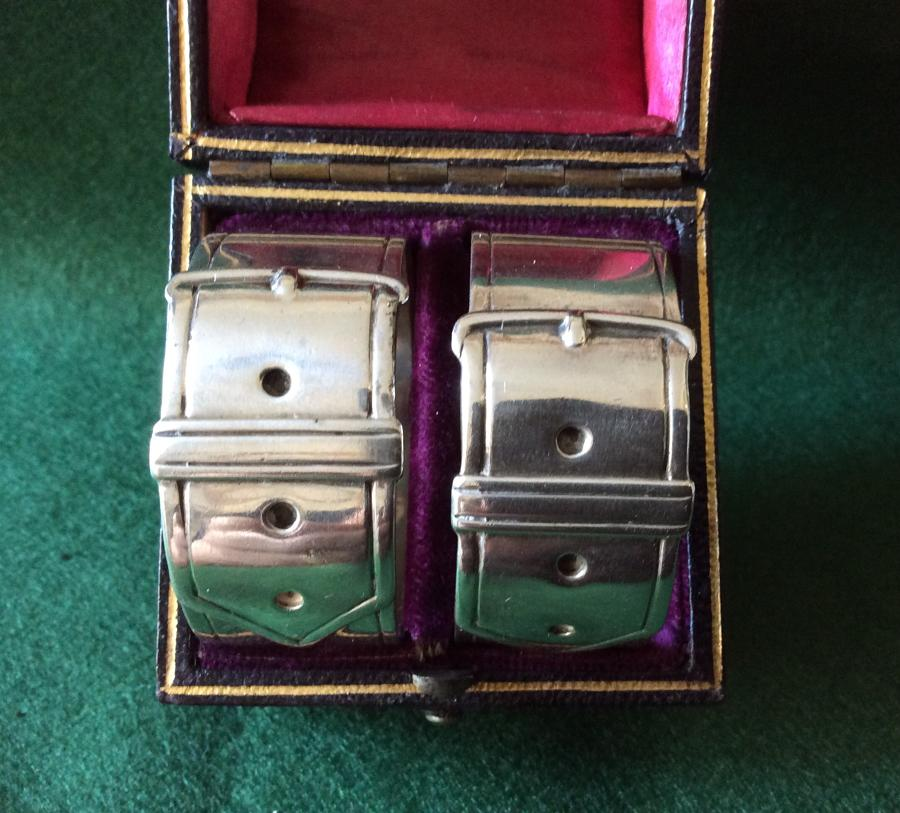 Pair of silver napkin rings by J.Dixon & Sons