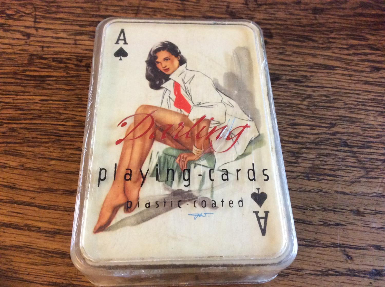 Rare set of 'Darling' 1950's playing cards