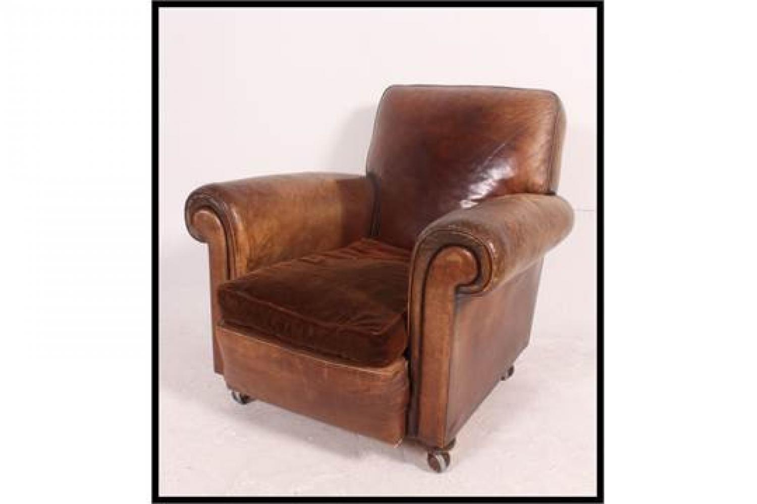 1930's Leather Club Chair