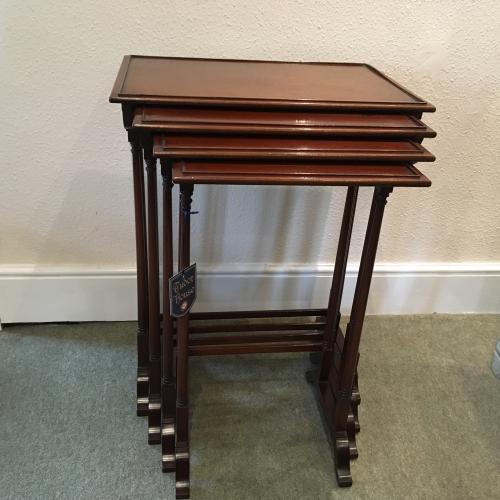 Mahogany quartetto nest of tables