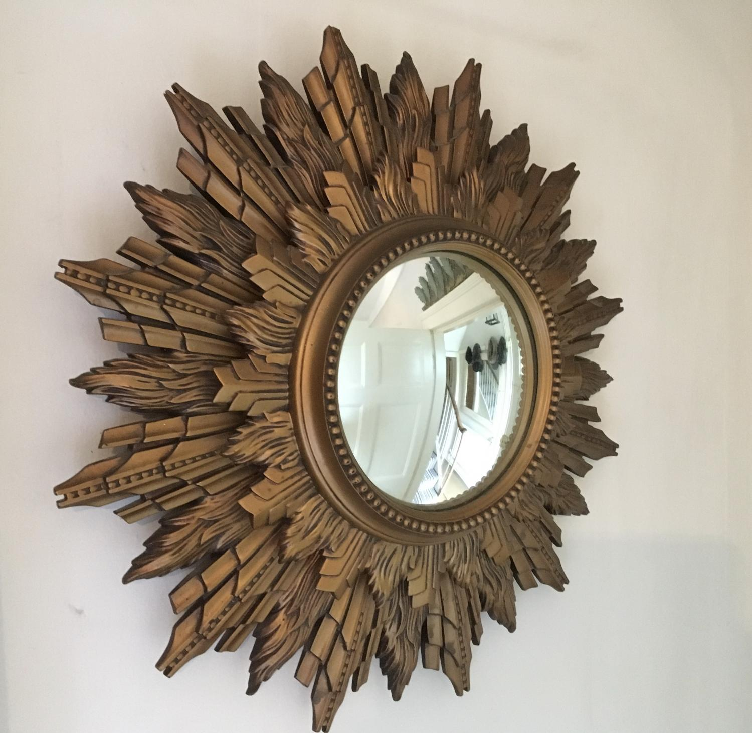 1950s French Sunburst Mirror