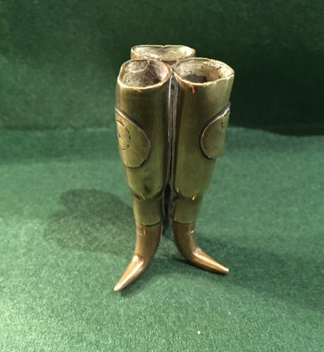 Trench art matchstick holder