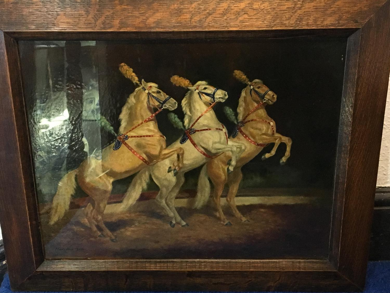 Circus Horse Oil Painting