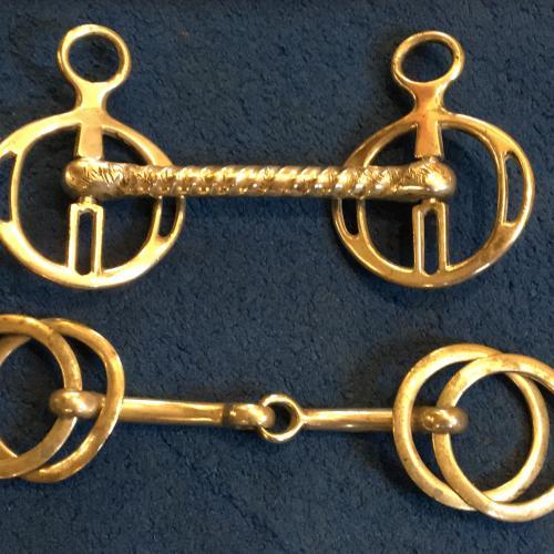 Antique equestrian bits