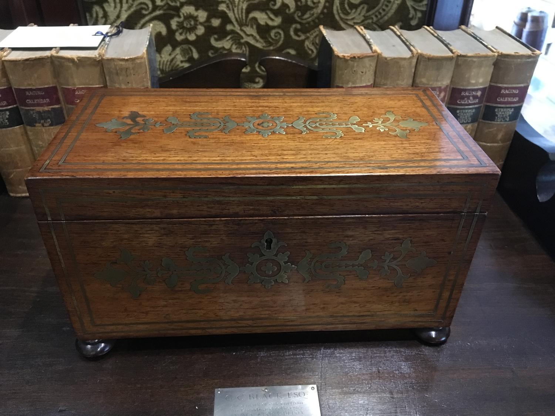 Regency inlaid tea caddy