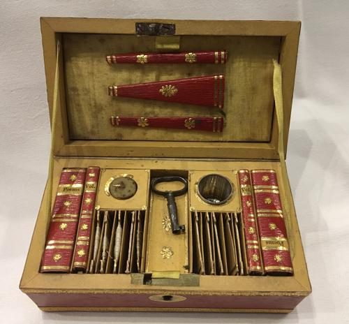 Regency Child's Red Leather Sewing Box