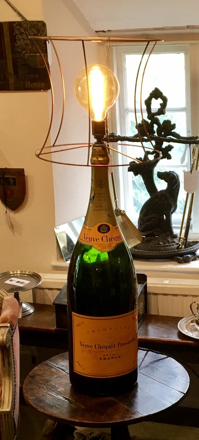 Veuve Clicquot Champagne Bottle Lamp