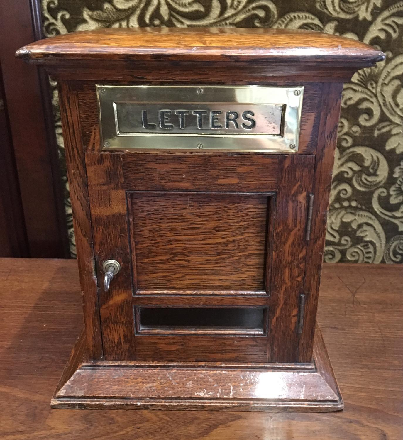 Oak Country House Letter Box