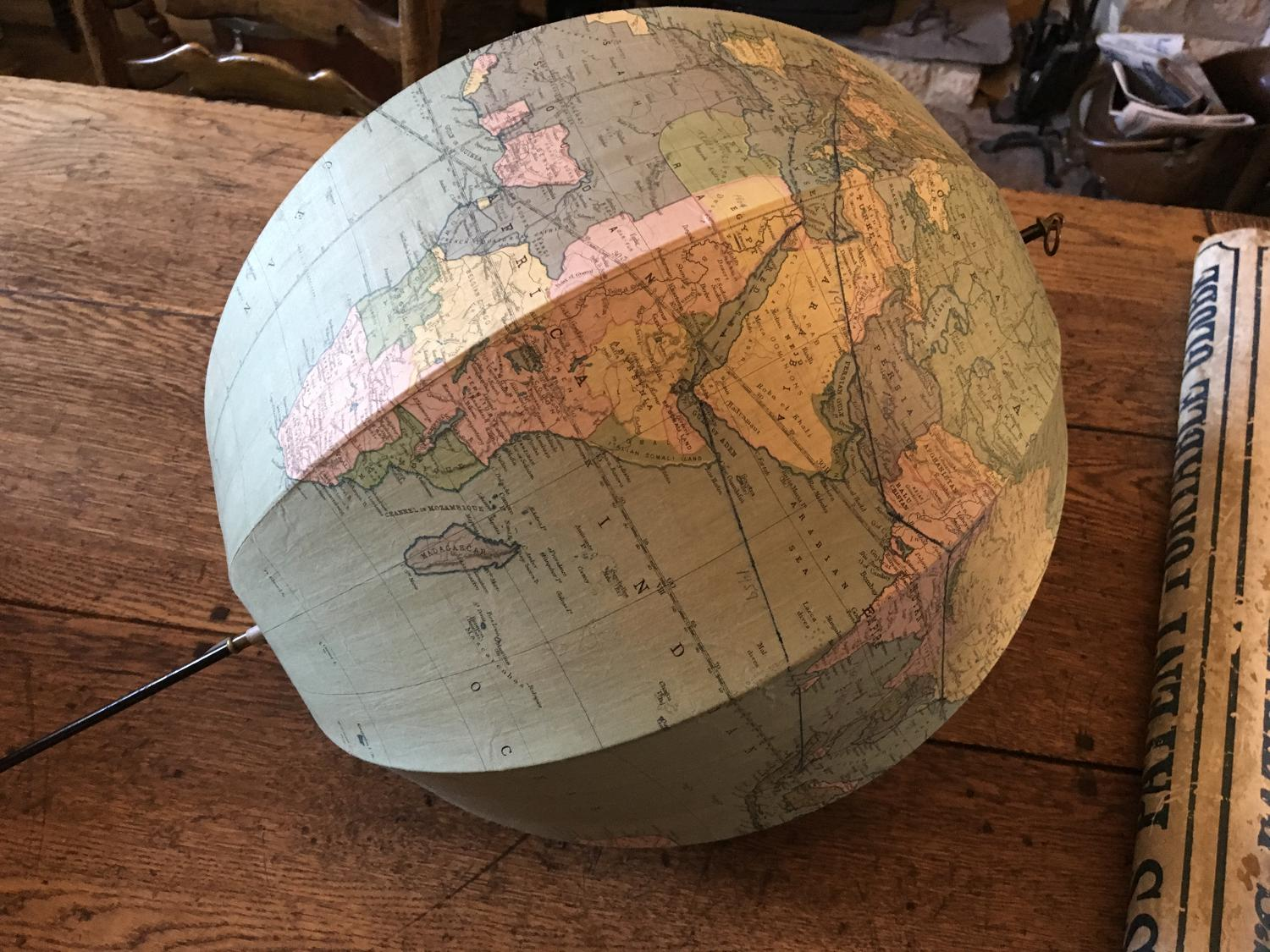 Rare Betts Portable Terrestrial Globe