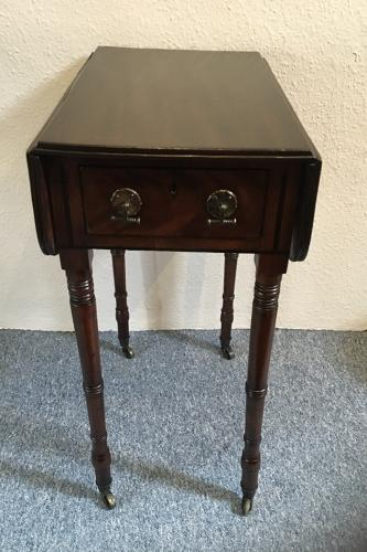 Regency Mahogany Ladies Work Table