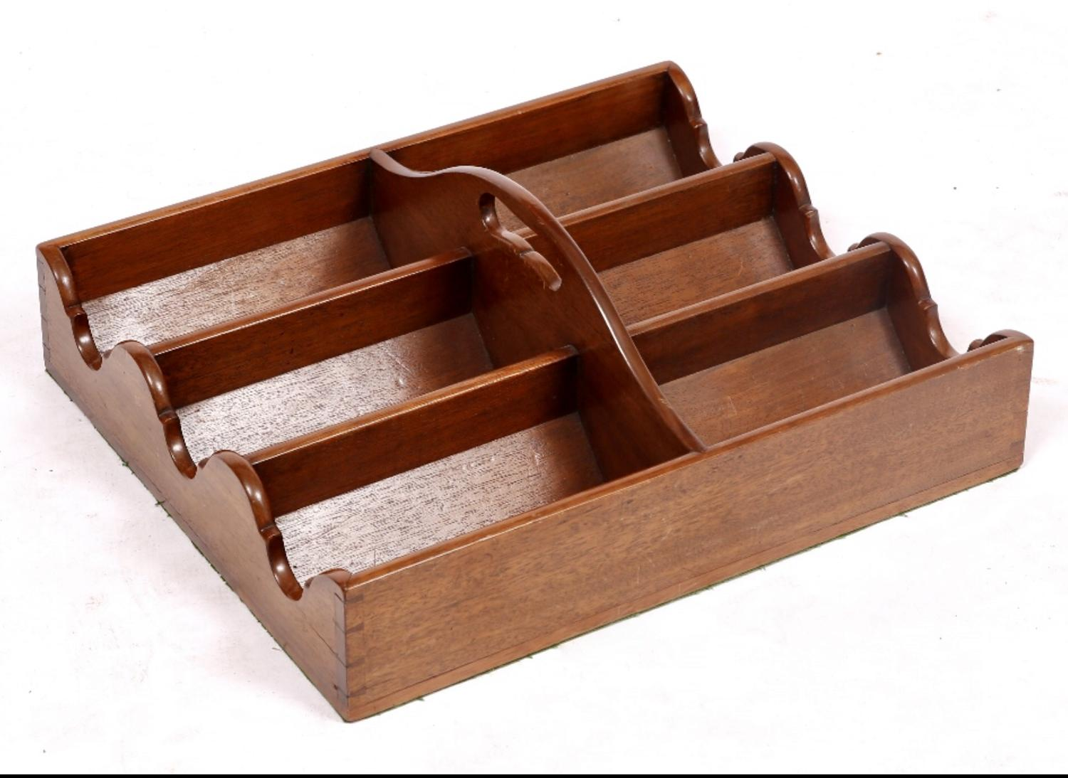 George III Mahogany Bottle Carrier