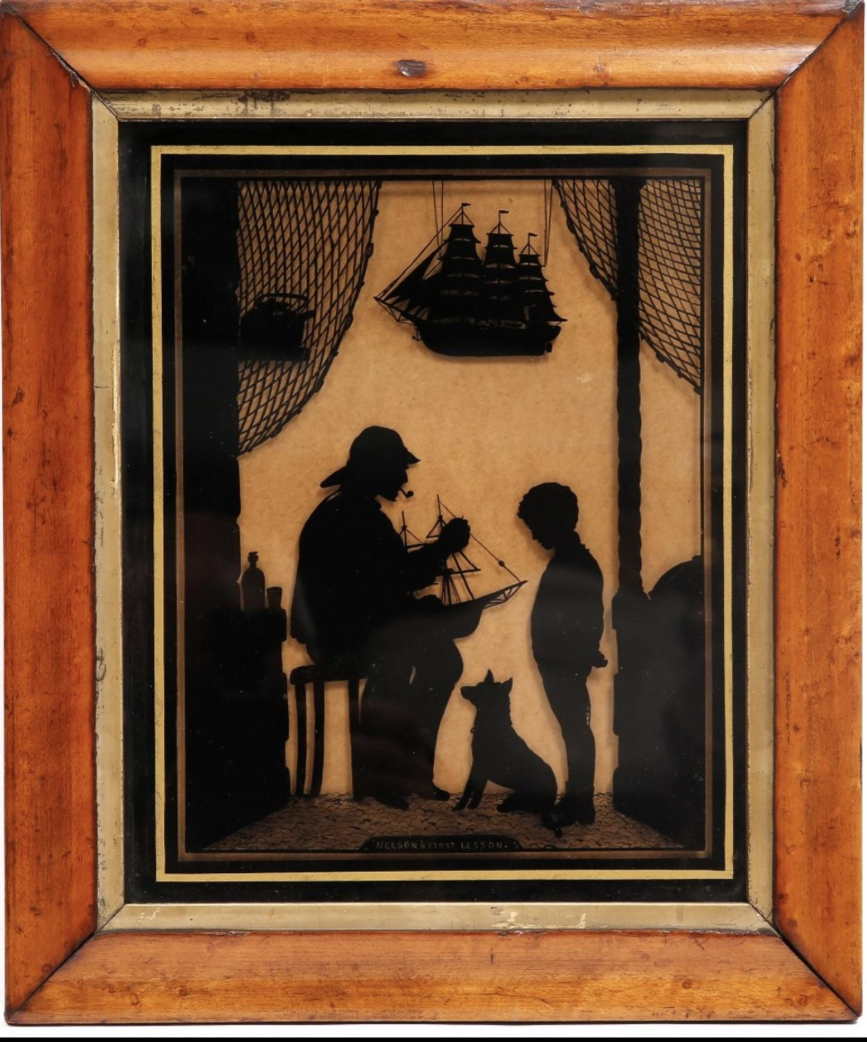 Early 19th Century Silhouette 'Nelson's First Lesson'