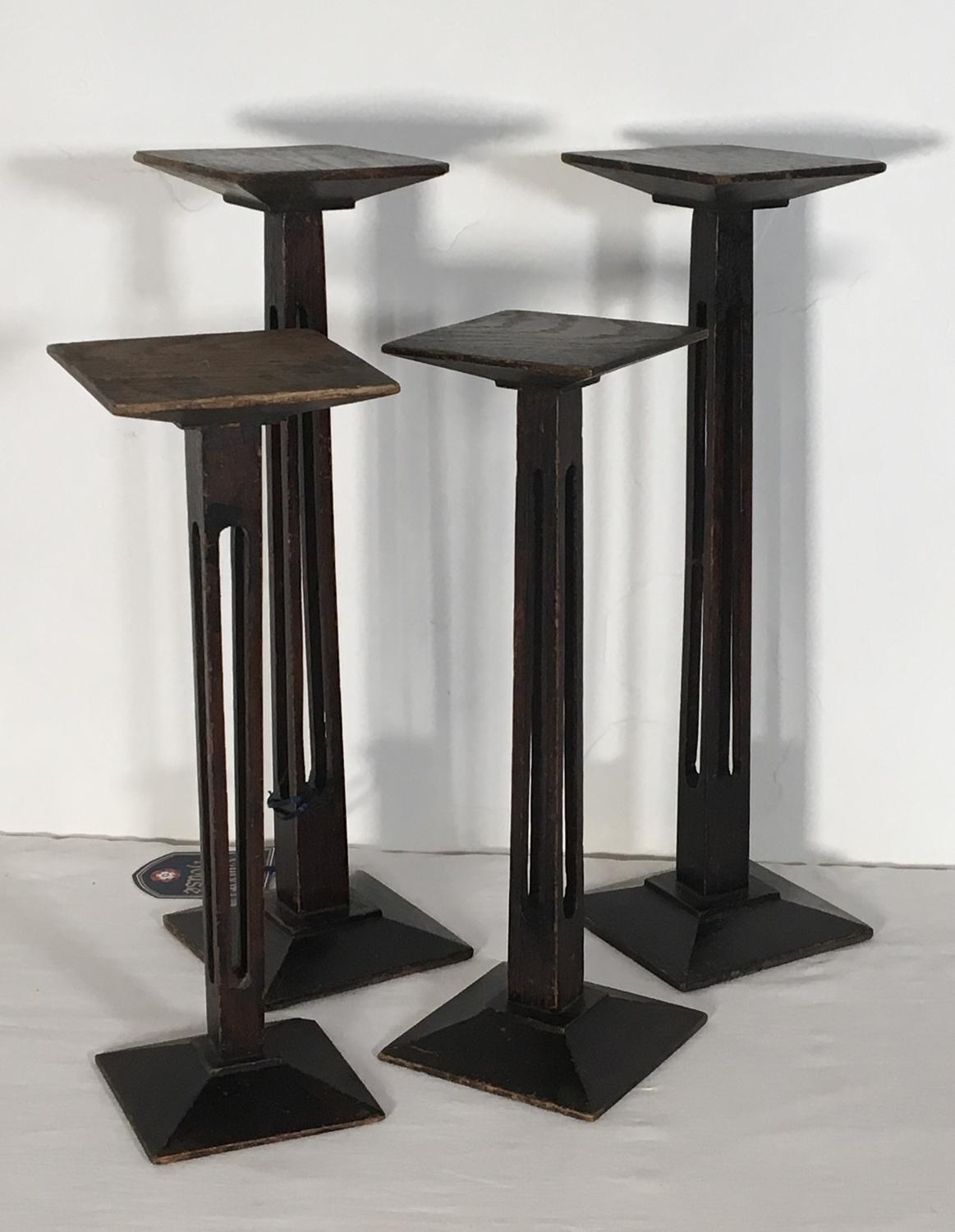 Set of four Art Deco milliners stands