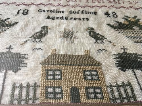 Early Victorian Sampler dated c1848
