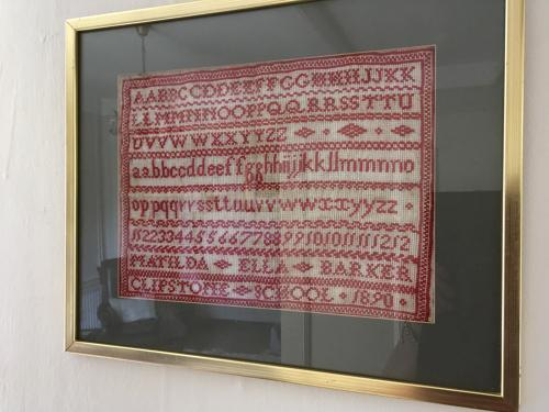 Victorian School Sampler dated 1890