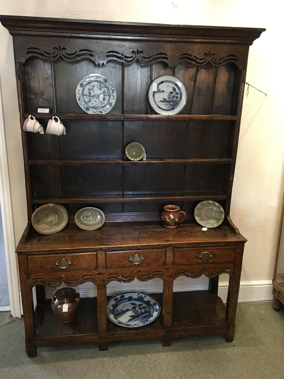 Late 18th Century Oak Pot Board Dresser of small proportions