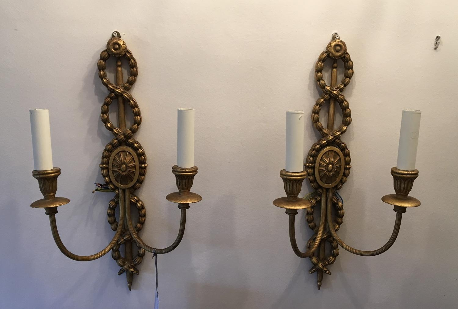 Mid 19th Century Giltwood wall lights