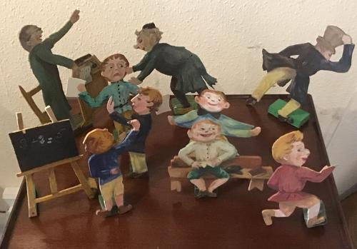 School room cut out figures