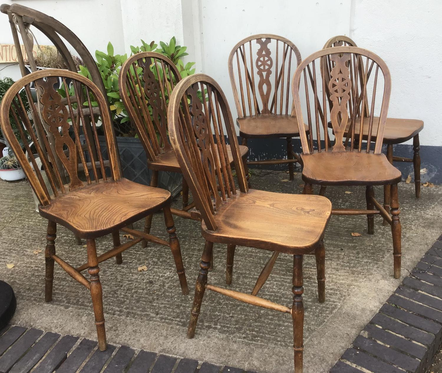Six Elm Windsor Kitchen Chairs