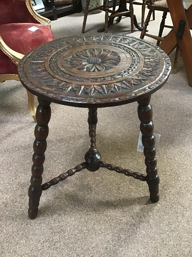 Carved Cricket Table