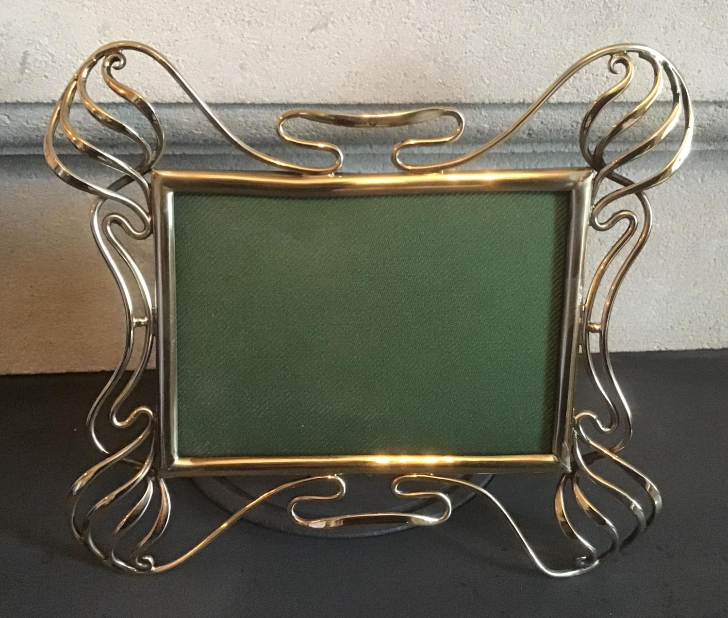 Art Nouveau Brass Photograph Frame