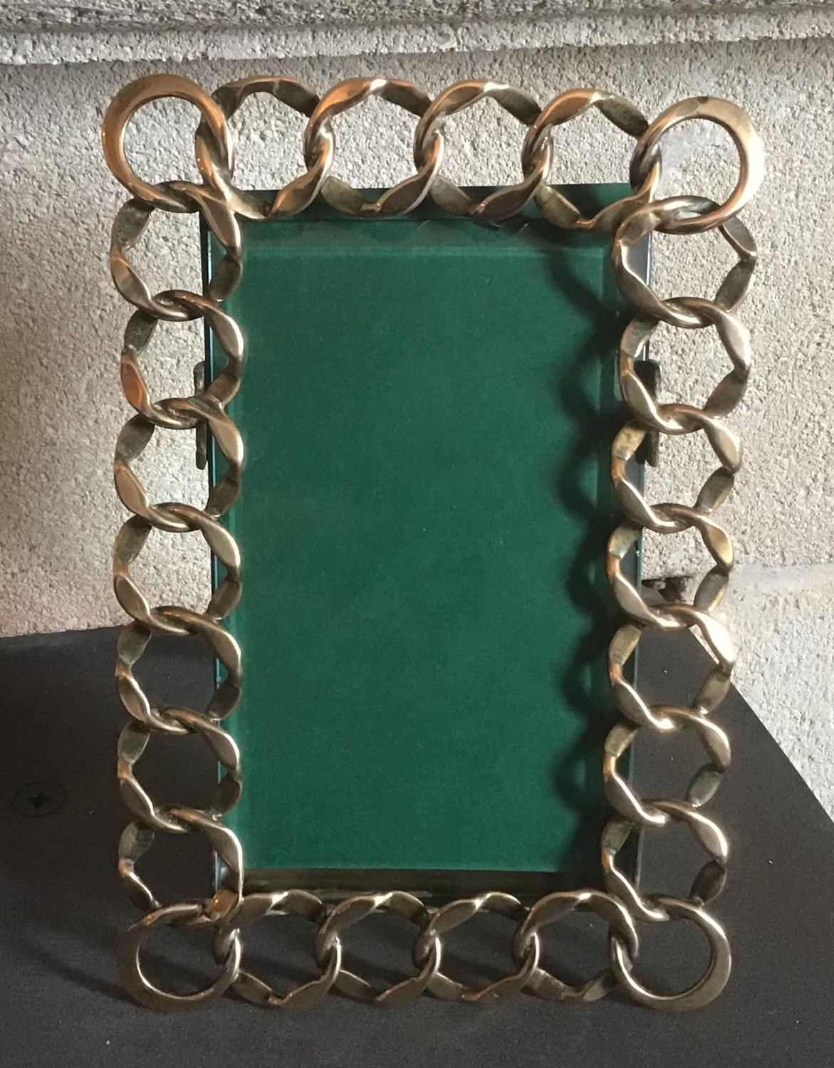 Victorian Brass Chain Link Photograph Frame