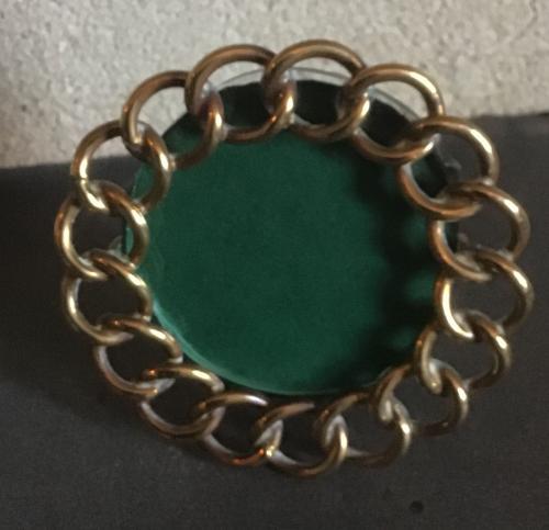 Miniature brass chain link photograph frame