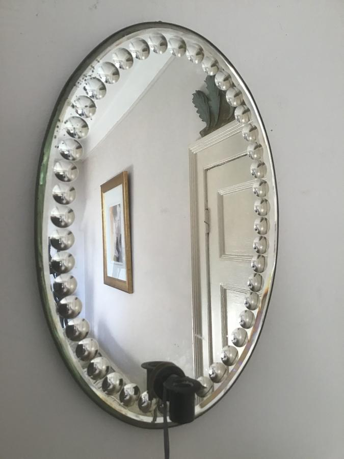 Antique French Mirror with candle sconce