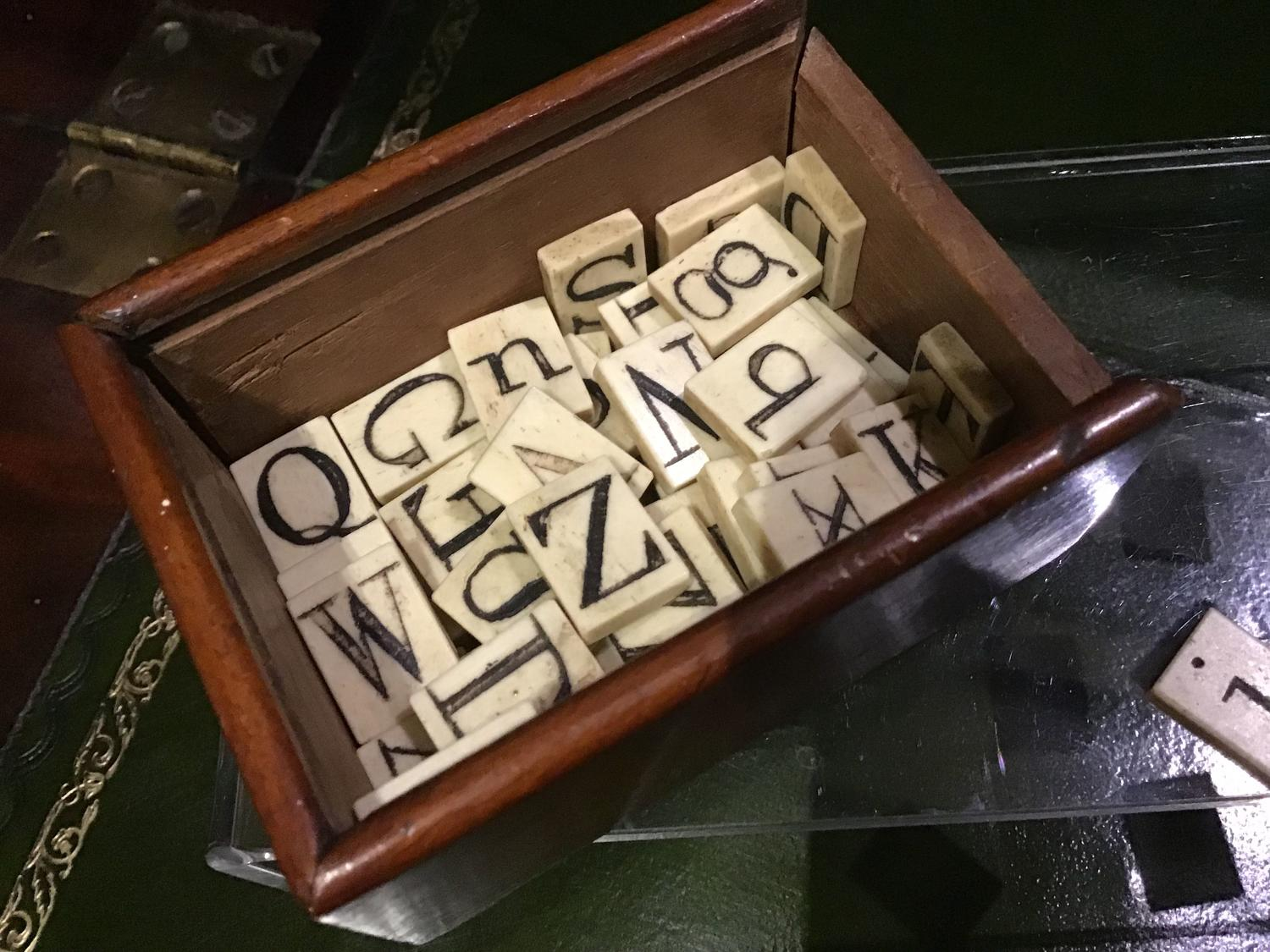 Collection of bone alphabet teaching letters