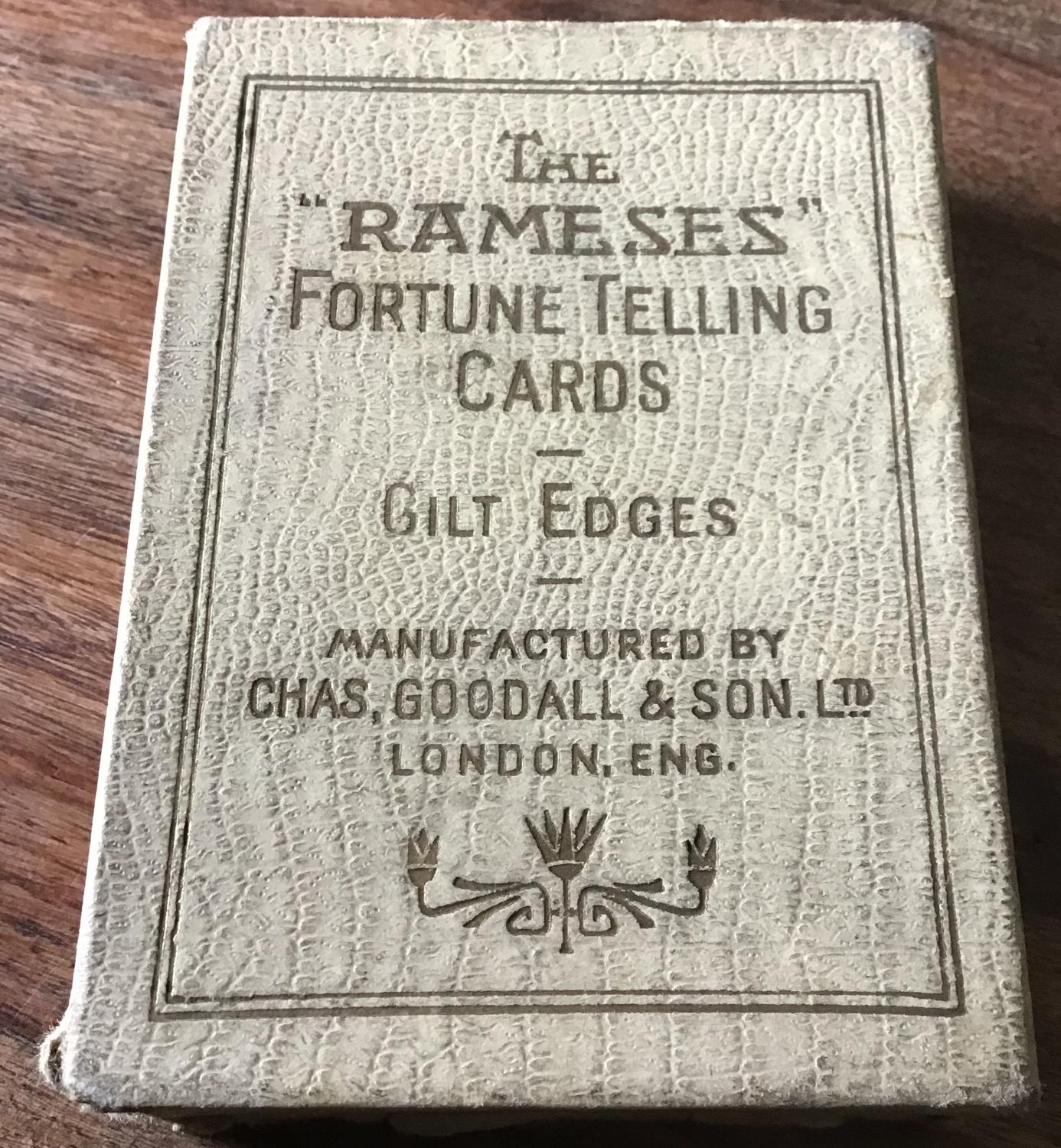 The Rameses Fortune Telling Cards in Miscellaneous
